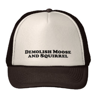 Demolish Moose and Squirrel - Mixed Clothes Cap