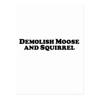 Demolish Moose and Squirrel - Mixed Clothes Post Cards