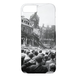Demolishing a tower in London's_War image iPhone 7 Case