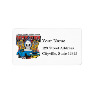 Demolition Derby Address Label