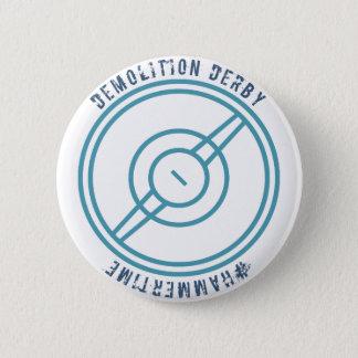 Demolition Derby - Blue Station 6 Cm Round Badge