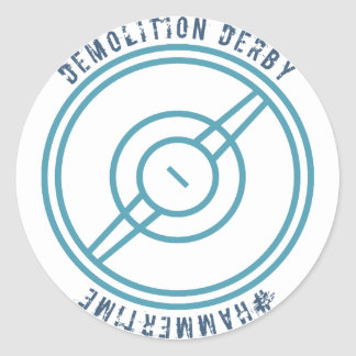 Demolition Derby - Blue Station Classic Round Sticker