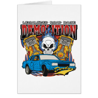 Demolition Derby Greeting Card