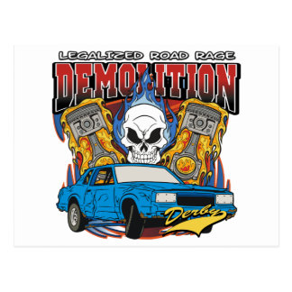 Demolition Derby Postcard