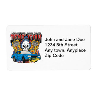 Demolition Derby Shipping Label