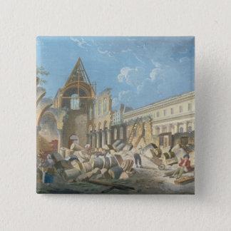 Demolition of the Couvent des Cordeliers, c.1802 15 Cm Square Badge