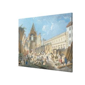 Demolition of the Couvent des Cordeliers, c.1802 Canvas Print