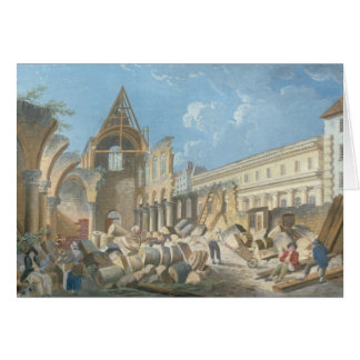 Demolition of the Couvent des Cordeliers, c.1802 Greeting Card
