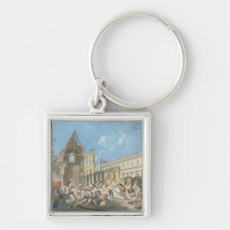 Demolition of the Couvent des Cordeliers, c.1802 Silver-Colored Square Key Ring