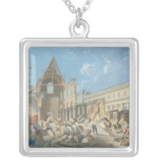 Demolition of the Couvent des Cordeliers, c.1802 Silver Plated Necklace