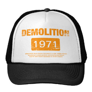 Demolition Orange Grunge Cap