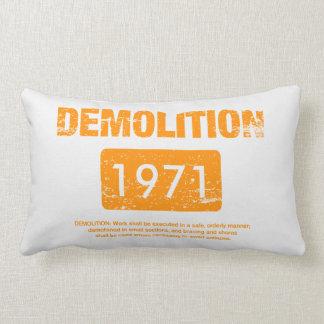 Demolition Orange Grunge Cushion