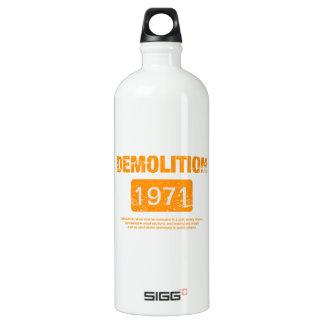 Demolition Orange Grunge SIGG Traveller 1.0L Water Bottle