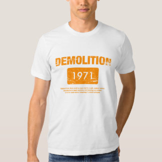 Demolition Orange Grunge T Shirt