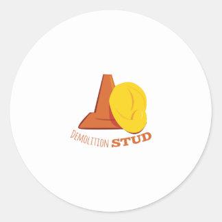 Demolition Stud Classic Round Sticker