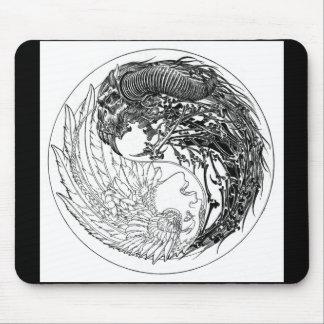 Demon-Angel Yin-Yang Mouse Mat