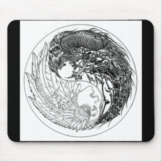 Demon-Angel Yin-Yang Mouse Pad