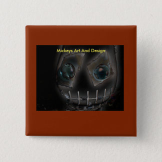 Demon by Mickeys Art And Design. 15 Cm Square Badge