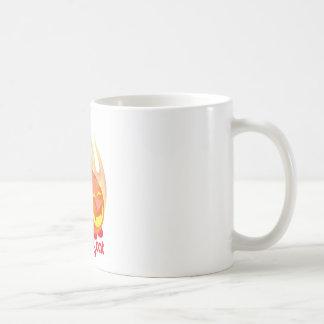 Demon cat red coffee mug