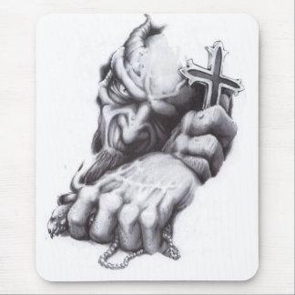 demon cross mouse mat