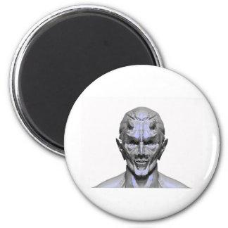 demon designs 6 cm round magnet