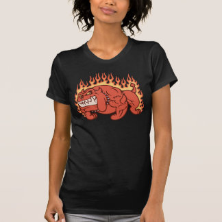 Demon Dog -Flames Tee Shirts