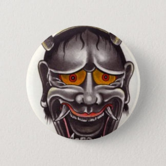Demon Face 6 Cm Round Badge