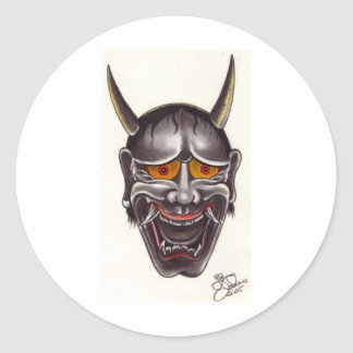 Demon Face Classic Round Sticker