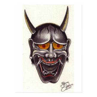 Demon Face Postcard