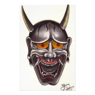 Demon Face Stationery