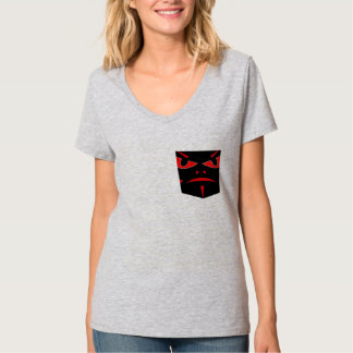 Demon,  Faux Pocket Design T-shirt