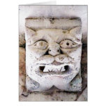 demon head in Senanque Abbaye Greeting Card