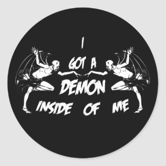 Demon Inside II Classic Round Sticker