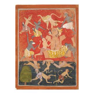 Demon Kumbhakarna Defeated by Rama and Lakshmana Art Photo
