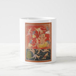 Demon Kumbhakarna Defeated by Rama and Lakshmana Large Coffee Mug