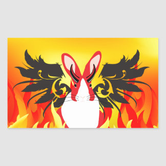 DEMON RECTANGULAR STICKER