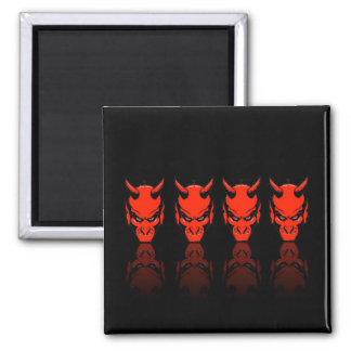 Demon Reflections Square Magnet