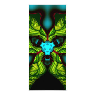 "Demon Shadows – Emerald and Yellow Mask 4"" X 9.25"" Invitation Card"