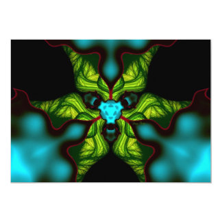 "Demon Shadows – Emerald and Yellow Mask 5"" X 7"" Invitation Card"