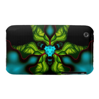 Demon Shadows – Emerald and Yellow Mask iPhone 3 Case