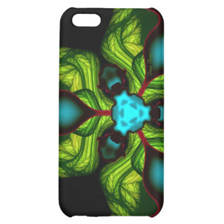 Demon Shadows – Emerald and Yellow Mask iPhone 5C Cover