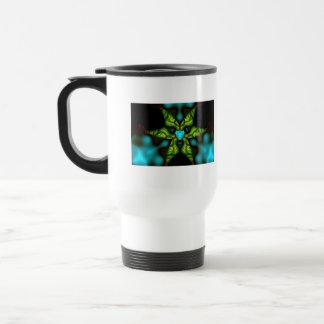 Demon Shadows – Emerald and Yellow Mask Travel Mug