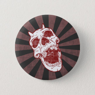 Demon Skull 6 Cm Round Badge