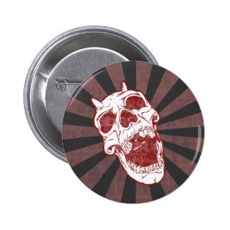Demon Skull 6 Cm Round Badge