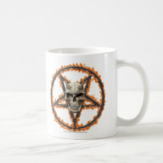 Demon Skull & Burning Pentagram Coffee Mug