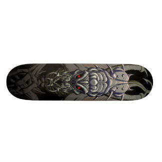 Demon Skull Skateboard (Monochrome Variant)