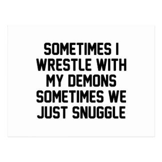 Demon Snuggle Postcard