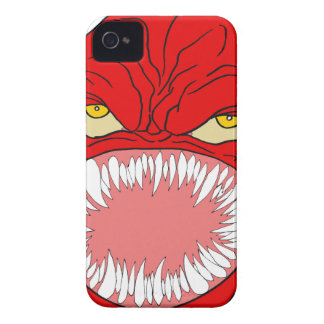 Demon Tooth Face Art iPhone 4 Case-Mate Cases