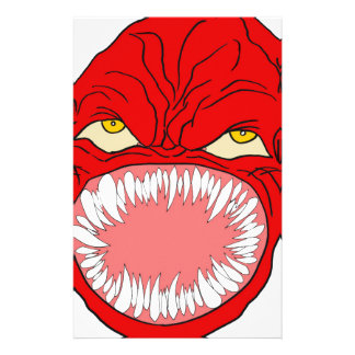 Demon Tooth Face Art Stationery Paper