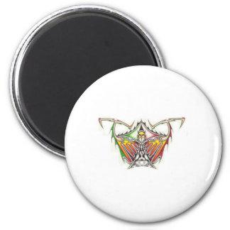 Demon Tribal 6 Cm Round Magnet